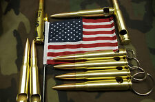 "1  50 cal bmg Bullet  KEY CHAIN 1 1/2""  RING  BEER BOTTLE OPENER TRENCH ART NICE"