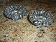 Crystal Taper Candlesticks Holders (2)