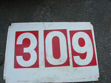GAS STATION NUMBERS GAS PRICE BIG RED NUMBERS GAS PRICE SIGN BY ROAD 9.5 X 14.5