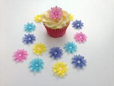 14 Commestibili tonalità pastello 3d FIORI Pre Taglio WAFER Per Cupcake Toppers