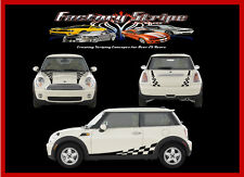 AUTOMOTIVE MINI COOPER CHECKERED FLAG FACTORY STRIPE 3M FACTORY STRIPE