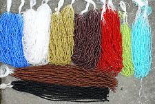 Glasperlen  4 mm Farbauswahl 1 oder 50 Strang Hammerpreis *BACATUS* Doppelkegel