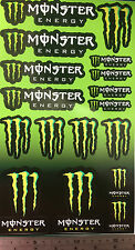 Monster Energy Drink stickers decals sheet helmet tool box bumper logo 17 skate