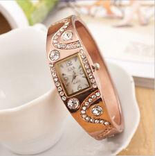 Fashion Womens Bracelet Style Analog Quartz Metal Watch Bangle Watches Gift