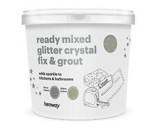 Hemway paillettes coulis Ready Mixed 4.5 kg Gris coulis/Champagne Gold Glitter