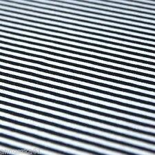 Jersey Stoff Ringelljersey 3 mm Streifen Weiß Schwarz