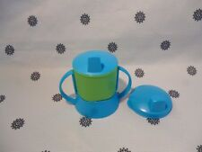 Tupperware 150ml Sippy Cup with Handles & Cover Baby Toddler Blue & Green New!