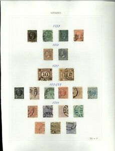 Romania 1879-1891 Album Page Of Stamps #V20306