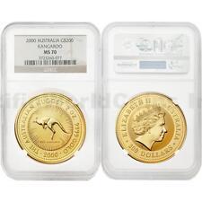 Australia 2000 Kangaroo $200 2 oz Gold NGC MS70