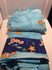 Disney Pixar Finding Nemo Twin Size 2 Piece Flat And Fitted Sheets