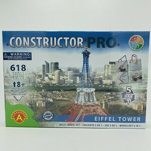 Alexander Toys Metal Kit Pro 5 IN 1 Eiffel Tower - 618 Pieces - New/Boxed