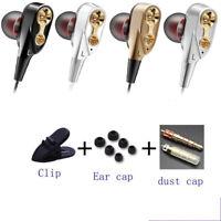 3.5mm With Mic HIFI  In-Ear Earphone Dual Dynamaic Driver Headphone Bass Headset
