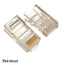 20X RJ45 LAN Cat 5e 6e Universal Connector Plug 8P8C Network Crimp End 8PIN