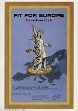 Jux-Aktie – FIT FOR EUROPE, Glorienschein, mit Freiheitsstatue – ULK-Papier !