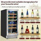 "🔥32 Bottle 15"" Dual Zone Wine Cooler Built-in or Freestanding Wine Refrigerator photo"