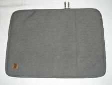 New NIDOO Padded Laptop/Tablet/iPad Sleeve-Case,Gray/Gold,Zippers,Storage Pocket