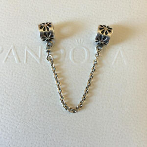 New Authentic Pandora Charm Daisy Safety Chain Sterling Silver 790385-05.