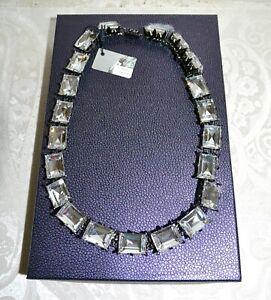 NIB $437 Rodrigo Otazu Anna Wintour Cut Swarovski Crystal Necklace Gunmetal