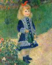 Child Flower Garden Art - Girl with a Watering Can by Renoir 8x10 Print 371