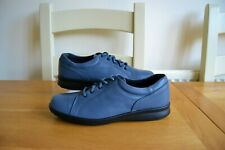 """NEW W.BOX EASY B """"PHOEBE"""" DENIM LEATHER LACE UP COMFORT SHOES UK 7EE RRP £85.00"""