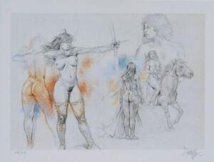 Paolo SERPIERI :  L'Archer - LITHOGRAPHIE érotique signée, 200ex, 2009