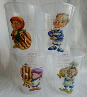 Set of 4 -  Collectible Keebler Elf Drinking Cups - BPA FREE - Made in USA