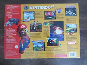 Console Nintendo 64 en bon état en boite avec jeux