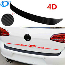 1PC Accessories Carbon Fiber Car Rear Guard Bumper 4D Sticker Panel Protector US