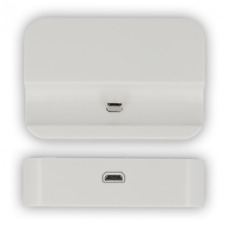 Dock Station Universale per ricarica Bianca per Tutti i telefoni Micro USB