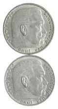 1938 1939 GERMAN WW2 NAZI 2 Mark Swastika Silver Coin - Germany War *445