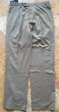 Black Brown Wool Blend Classic Fit Slacks Pants Slacks Pants, Camel Brown, 34x34
