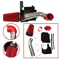 """Fit 99-06 Silverado 1500/2500 V8 4"""" Cold Air Intake Induction Kit +Filter Red"""