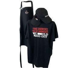 Arbys Employee Uniform T Shirt Hats Apron Name Tag I Make Sandwiches size L