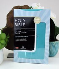 Holy Bible: New King James Version, Turquoise, Leathersoft, Ultraslim Edition Th