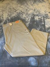 Levi's Size 62 X 34 Men Kahki Big And Tall 559 Relaxed Straight Jeans