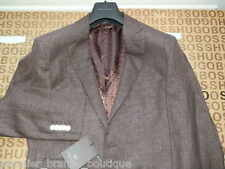 NEW HUGO BOSS SELECTION BROWN FITTED TAILORED SUIT COAT JACKET 40R MEDIUM LARGE