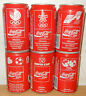 COCA COLA 1988 6 cans SPORTS set from GERMANY (33cl)