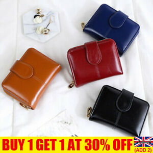 Women's Short Small Money Purse Wallet Ladies Leather Folding Coin Card Holder