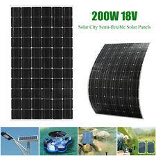200W 18V Elfeland Solar City Semi-flexible Solar Panels + 1.5m Cable For RV Boat