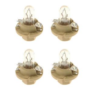 🔥Osram-Sylvania 39118 4 x Bulbs (12V - 1.5W) Clear with Beige Socket Base🔥