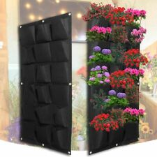 Black Wall Garden Balcony Planting Bags 18 Pockets Pot Hanging Planter Indoor