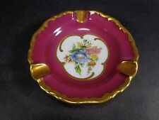 Waldershof Bavaria Germany Floral Mini Plate Gold 22K