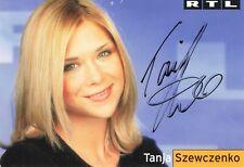 Tanja Szewczenko, Originalautogramm, alte Autogrammkarte, u.a.
