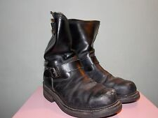 1990's Black Leather Engineer Safety Boots by Survivor Men's Size 8 1/2 (Used)
