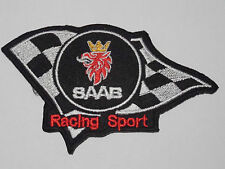 MOTORSPORTS MOTOR RACING SEW/IRON ON PATCH:- SAAB RACING