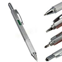 6 in 1 Multi Tool Stylus Pen Spirit Level Dual Screwdriver Ruler Ballpoint
