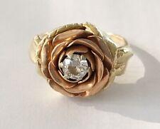 Colored Rose Ring With Diamond New ListingAntique Retro 14k Multi