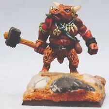 Citadelle Minotaur Lord complet années 80 métal WARHAMMER REALMS OF CHAOS bête Monster