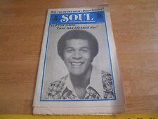 SOUL 1975 magazine KGFJ Clifton Davis Jim Brown Stevie Wonder Herbie Hancock
