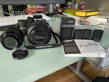 Samsung NX1000 Digital  Camera 20-50mm AND 50-200mm lens Three Batteries Charger